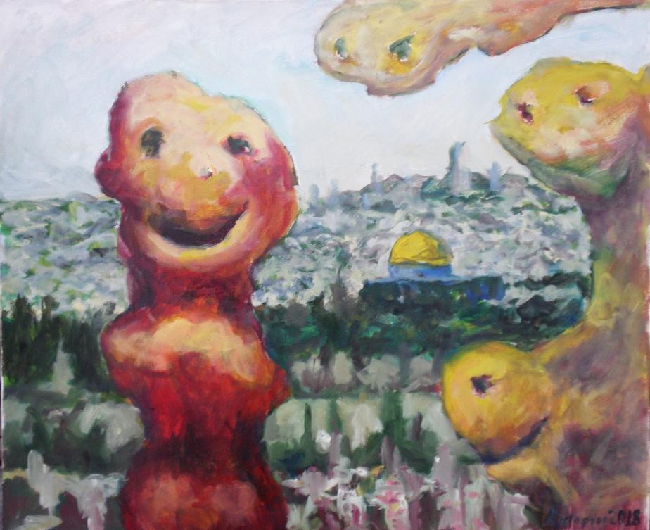 """Iерусалим"" полотно олія, 50х60 2018"
